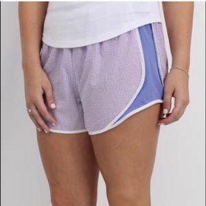 NWT Lauren James Seersucker Shorties Lavender